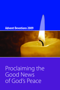 Pages from 2009 Advent Devotion Booklet