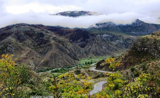 The scenic road between the southern cities of Goris and Kapan in Armenia. Photo by Sara Todd