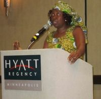 Dr. Alvine Laure Siaka, of the African Health Action Corp