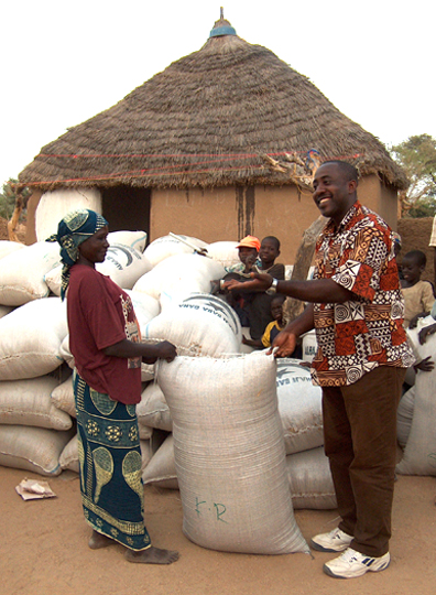 A community grain bank that was started in part by PHP's Joining Hands Program in Cameroon, Africa.